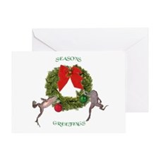 Christmas Froglets Greeting Card