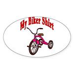 Children's Clothes Oval Sticker