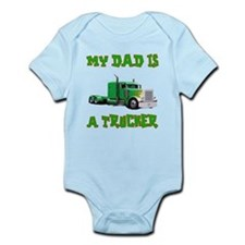 My Dad Is A Trucker Infant Bodysuit