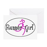 Runner Girl Greeting Card