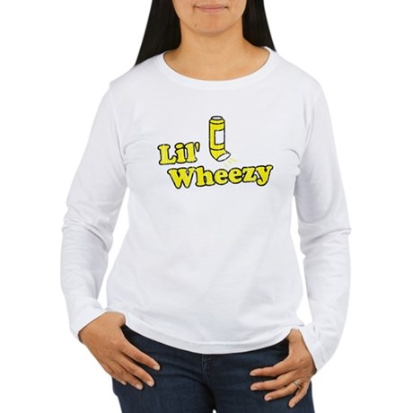 Lil' Wheezy Womens Long Sleeve T-Shirt