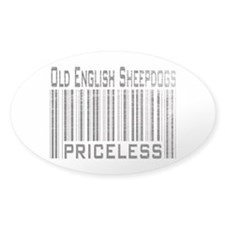 Old English Sheepdogs Owner L Oval Decal