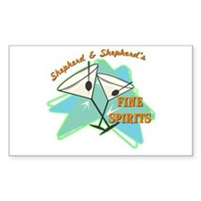 Shepherd & Shepherd's Rectangle Decal