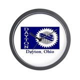 Dayton OH Flag Wall Clock