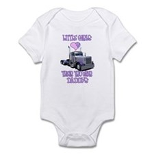 Little Girls Love Their Trucker Daddys Infant Body