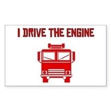 I Drive The Engine Rectangle Decal