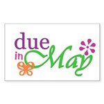 Due in May Rectangle Sticker