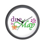 Due in May Wall Clock