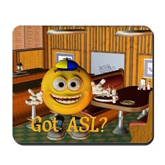ASL Boy - Mousepad