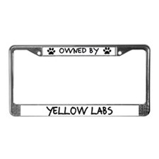 Owned by Yellow Labs License Plate Frame