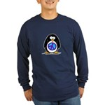 Peace Penguin Long Sleeve Dark T-Shirt