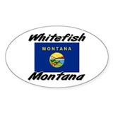 Whitefish Montana Oval Decal
