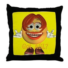 ASL Girl - Throw Pillow