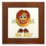 ASL Girl - Framed Tile