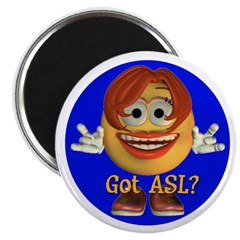 "ASL Girl - 2.25"" Magnet (10 pack)"