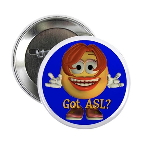 "ASL Girl - 2.25"" Button (10 pack)"