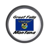 Great Falls Montana Wall Clock