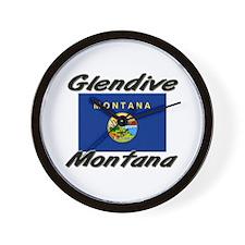 Glendive Montana Wall Clock