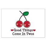 Good Things Cherry Twin Large Poster
