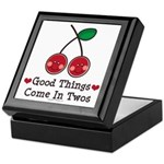 Good Things Cherry Twin Keepsake Box