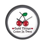 Good Things Cherry Twin Wall Clock