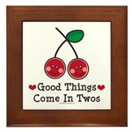 Good Things Cherry Twin Framed Tile