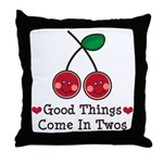 Good Things Cherry Twin Throw Pillow