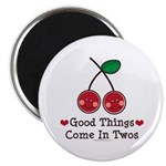 Good Things Cherry Twin Magnet