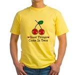 Good Things Cherry Twin Yellow T-Shirt