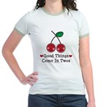Good Things Cherry Twin Jr. Ringer T-Shirt