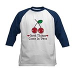 Good Things Cherry Twin Kids Baseball Jersey