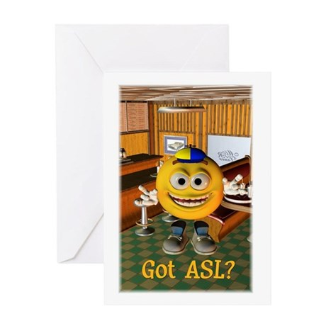 ASL Boy - Greeting Card 5x7 Single Card