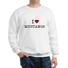 I Heart Mustangs Sweatshirt