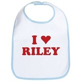 I LOVE RILEY Bib