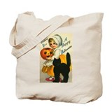 Girl and Kitty Tote Bag