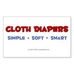 CD Simple Soft Smart! Rectangle Sticker
