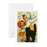 Girl and Kitty Greeting Cards (Pk of 20)