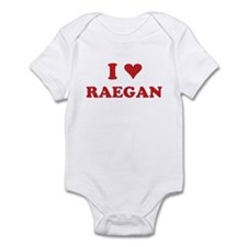 I LOVE RAEGAN Infant Bodysuit