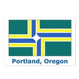 Portland OR Flag Postcards (Package of 8)