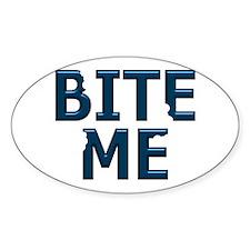Bite Me Design II Oval Decal
