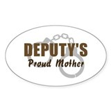 Deputy's Proud Mother Oval Decal
