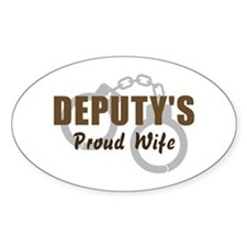 Deputy's Proud Wife Oval Decal