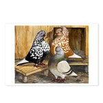 Domestic Flight Pigeons Postcards (Package of 8)