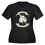 Schnauzer Women's Plus Size V-Neck Dark T-Shirt
