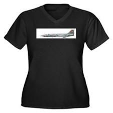 Cute F 104 starfighter Women's Plus Size V-Neck Dark T-Shirt