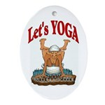 Let's Yoga Oval Ornament