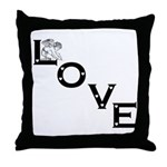 Angel Love w/hearts : Throw Pillow