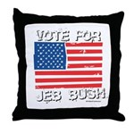 Vote for Jeb Bush Throw Pillow