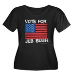 Vote for Jeb Bush Women's Plus Size Scoop Neck Dar