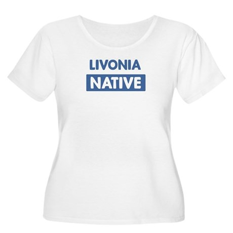 LIVONIA native Women's Plus Size Scoop Neck T-Shir